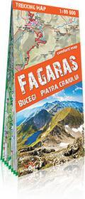 ExpressMap praca zbiorowa trekking map Góry Fogarskie, Bucegi, Piatra Ciagiului (Fagaras, Bucegi, Piatra Ciagiului). Laminowana mapa trekkingowa 1:80 000