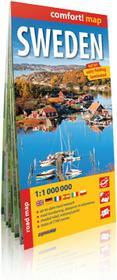 ExpressMap praca zbiorowa comfort! map Szwecja (Sweden). Laminowana mapa samochodowa 1:1 000 000