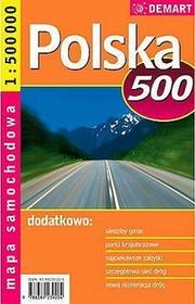 Polska - mapa samochodowa (skala 1:500 000) - Demart