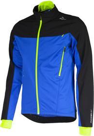 Rogelli TRABIA zimowa kurtka rowerowa Softshell czarny-niebieski-fluor 003.115