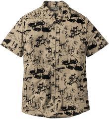 Bonprix Koszula z krótkim rękawem Slim Fit jasnooliwkowy