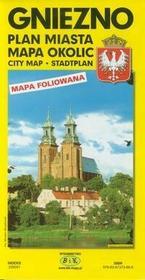 BiK Agencja Wydawnicza Gniezno - plan miasta, plan okolic (skala: 1:15 000) - BiK