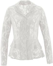 Bonprix Bluzka koronkowa biel wełny
