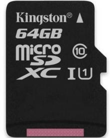 Kingston Micro SD Class 10 Gen2 64GB