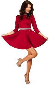Rozkloszowana elegancka sukienka mini