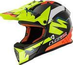 LS2 MX437 Fast Volt Black Yellow Orange L