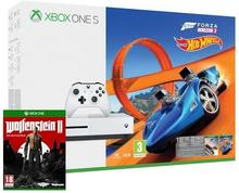 Microsoft Xbox One S 500 GB Biała +  Forza Horizon 3 + Hot Wheels + Wolfenstein II The New Colossus + XBL 6 m