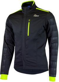 Rogelli RENON 2.0 zimowa kurtka rowerowa czarny-fluor