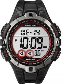 Timex męski zegarek na rękę cyfrowy kwarcowy plastik, kolor: czerwony
