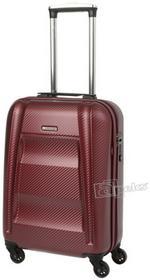 Puccini New York PC017 mała walizka kabinowa PC017 C 3B czerwony 4 kółka