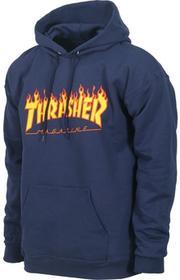 Thrasher bluza męska FLAME LOGO HOODIE NAVY BLUE