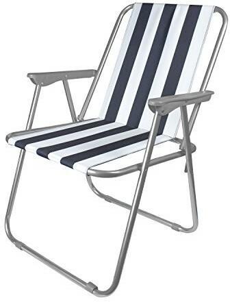 MILESTONE Milestone składany krzesło rekreacyjny na plażębiały, 52x 47x 75cm 12100