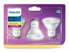 Philips Żarówka LED 4,7W/50W GU10 WW 230V 36D 2700K 345lm 3szt 871869676130400