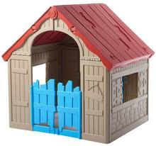 Keter Zabawka Domek dla dzieci Foldable Playhouse Beżowo-Czerwono-Niebieski 228444 228444