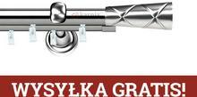 Karnix Karnisze szynowe ASPEN podwójny 19/19mm Pino INOX