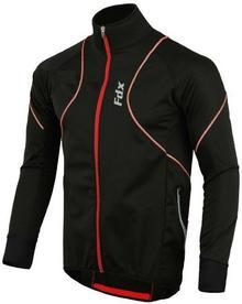 FDX FDX 1300 zimowa kurtka rowerowa Softshell czarny-czerwony