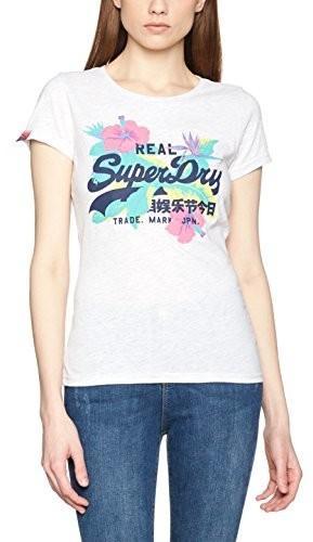 Superdry T-shirt damski Vintage logo Hibiscus - B01N1UXK8D – ceny ... 8a5ef342ca2
