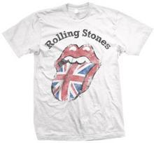 Union Distressed Jack męski T-shirt z krótkim Rolling Stones w kolorze białym - s biały B003AIKE6Y