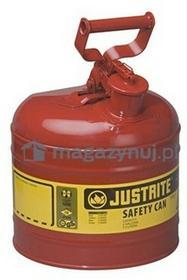 Topserw Pojemnik zabezpieczający stalowy na płyny łatwopalne 7,5 l, Typ I, czerwony