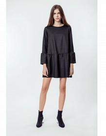 00a1663970 MALE-ME Sukienka bawełniana z kieszeniami Basic Romantic Grey Denim