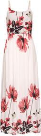 Bonprix Długa sukienka z nadrukiem jasnoróżowy wzorzysty