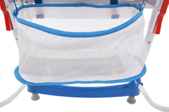 FUN BABY Krzesełko do karmienia dzieci PRIMA, składane, niebieskie KC130-NB