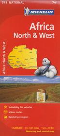 Michelin Afryka Północna i Zachodnia mapa 1:4 000 000 Michelin