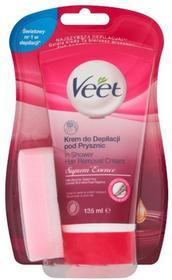 Veet Suprem Essence, krem do depilacji pod prysznic, 135 ml + gąbka