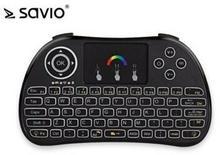 Elmak SAVIO KW-02 Podświetlana klawiatura bezprzewodowa Android TV Box Smart TV PS3 XBOX360 PC