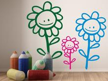 Naklej-to.pl Wesoły kwiatek naklejka na ścianę