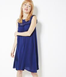 Camaeu Sukienka z ażurowym dekoltem i frędzelkami 502169_0009