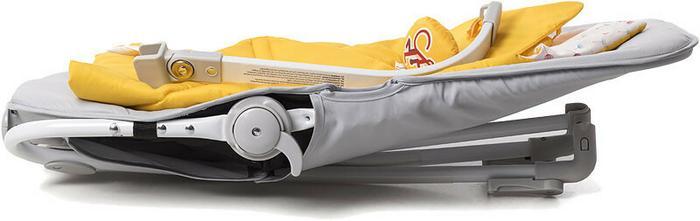 KinderKraft Leżaczek 2w1 Felio yellow