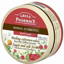Green Pharmacy Peeling cukrowo-solny do ciała Żurawina i Malina moroszka 300 ml