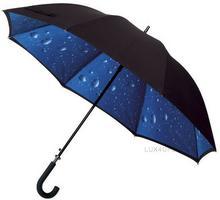 Impliva Duży Parasol dwuwarstwowy krople deszczu GP-53-R