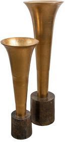 Wazon Gold Line, kielich, aluminium, złoty 80 cm