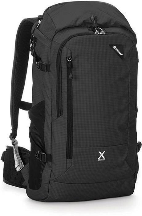 20a3701b78996 Pacsafe Plecak turystyczny antykradzieżowy Venturesafe X30 Czarny  PVE60415100