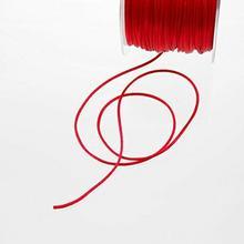 jedwabny sznurek Czerwony2MM szerokości na rolce o długości 100m29031306-R 002