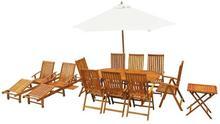 vidaXL Zestaw mebli ogrodowych, 13-częściowy, drewno akacjowe