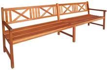 vidaXL Ławka ogrodowa z drewna akacjowego 240 x 56 90 cm, brązowa