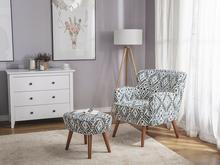 Beliani Fotel tapicerowany kolorowy TUMBA