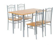 Lectus Zestaw stołowy Sylkos 4 krzesła jasny