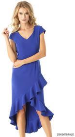 ae7c0b094c Sukienka z dłuższym tyłem Naomi niebieska