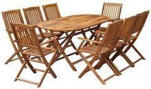 vidaXL Zestaw mebli ogrodowych, 9-częściowy, drewno akacjowe