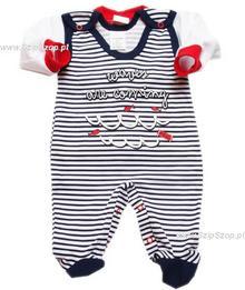 Komplet dla niemowlaków Śpioszki i Kaftanik Marynarz 62