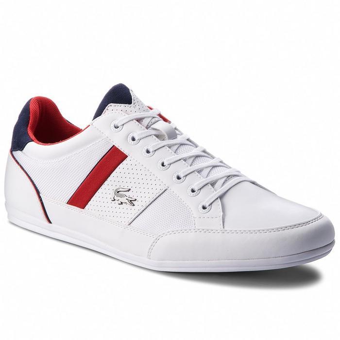 Lacoste Sneakersy Chaymon 218 1 Cam 7-35CAM0013042 Wht Nvy - Ceny i opinie  na Skapiec.pl 020273c73b