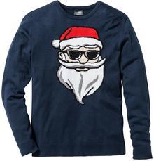Bonprix Sweter Slim Fit ciemnoniebieski