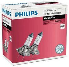 Philips H7 VisionPlus 12V 55W PX26d - 2 sztuki