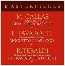 ZYX Music Pavarotti Luciano, Callas, Tebaldi Masterpieces with Pavarotti, Callas & Tebaldi