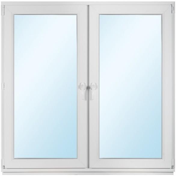Okno PCV rozwierne + rozwierno - uchylne 1465 x 1435 mm symetryczne
