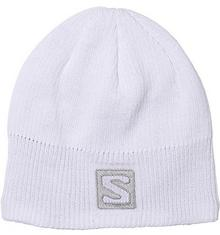 Salomon czapka uniseks z logo, dla sportów zimowych, logo Beanie, czarna, biały, UNI L36684900-001-One Size